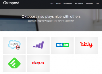 Online tools that integrate with Oktopost (Source: Oktopost)