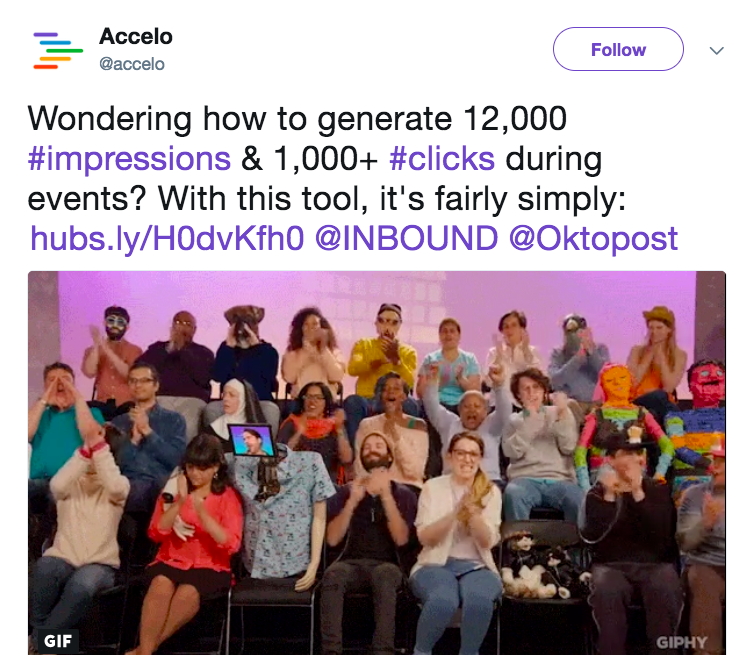 Accelo flashing the numbers in it ssocial posts