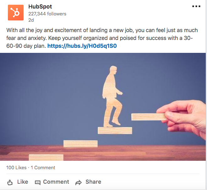 hubspot shows empathy to its audience in social posts
