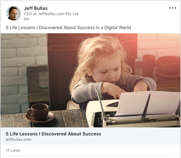 Jeff Bullas is keeping it simple in social posts