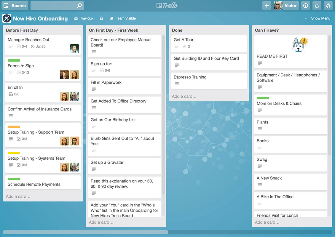 trello is one of the best social media tools for productivity