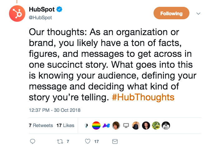 HubSpot avoiding social media mistakes by creating its custom hashtag