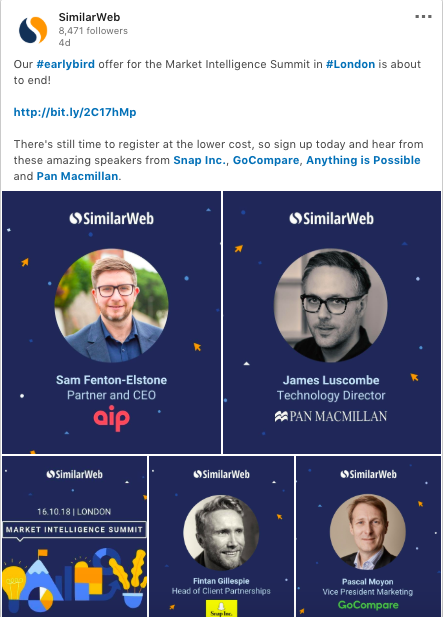 similarweb shows how to leverage events on social media