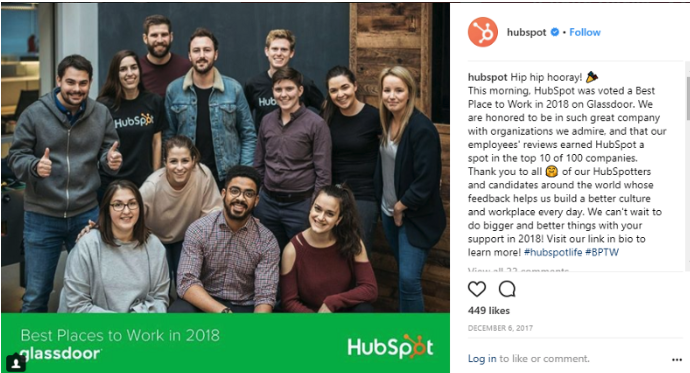 hubspot knows what good social recruiting is
