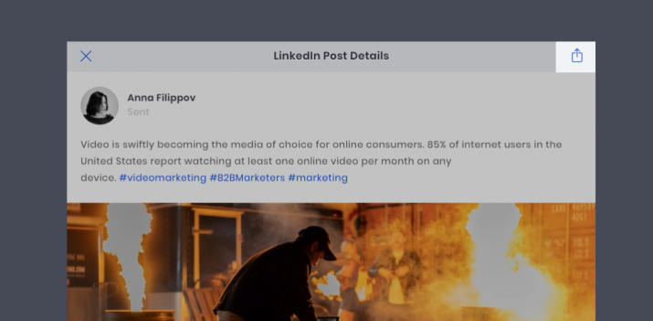 LinkedIn Post Details