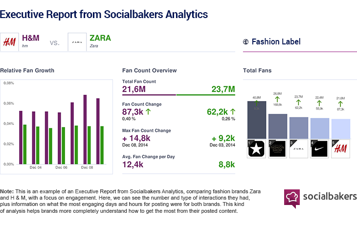 social bakers social media reporting