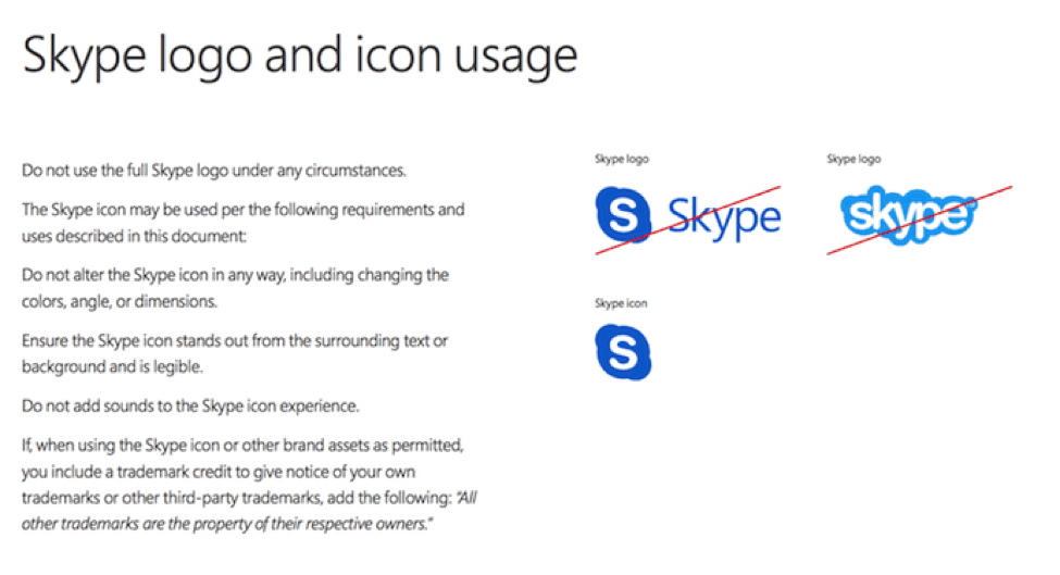 skype brand management