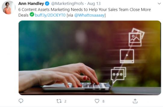 Ann Handley twitter