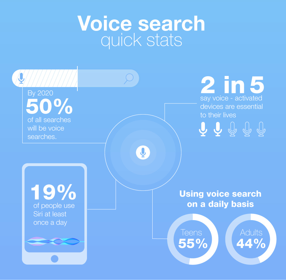 Voice Search Infograph