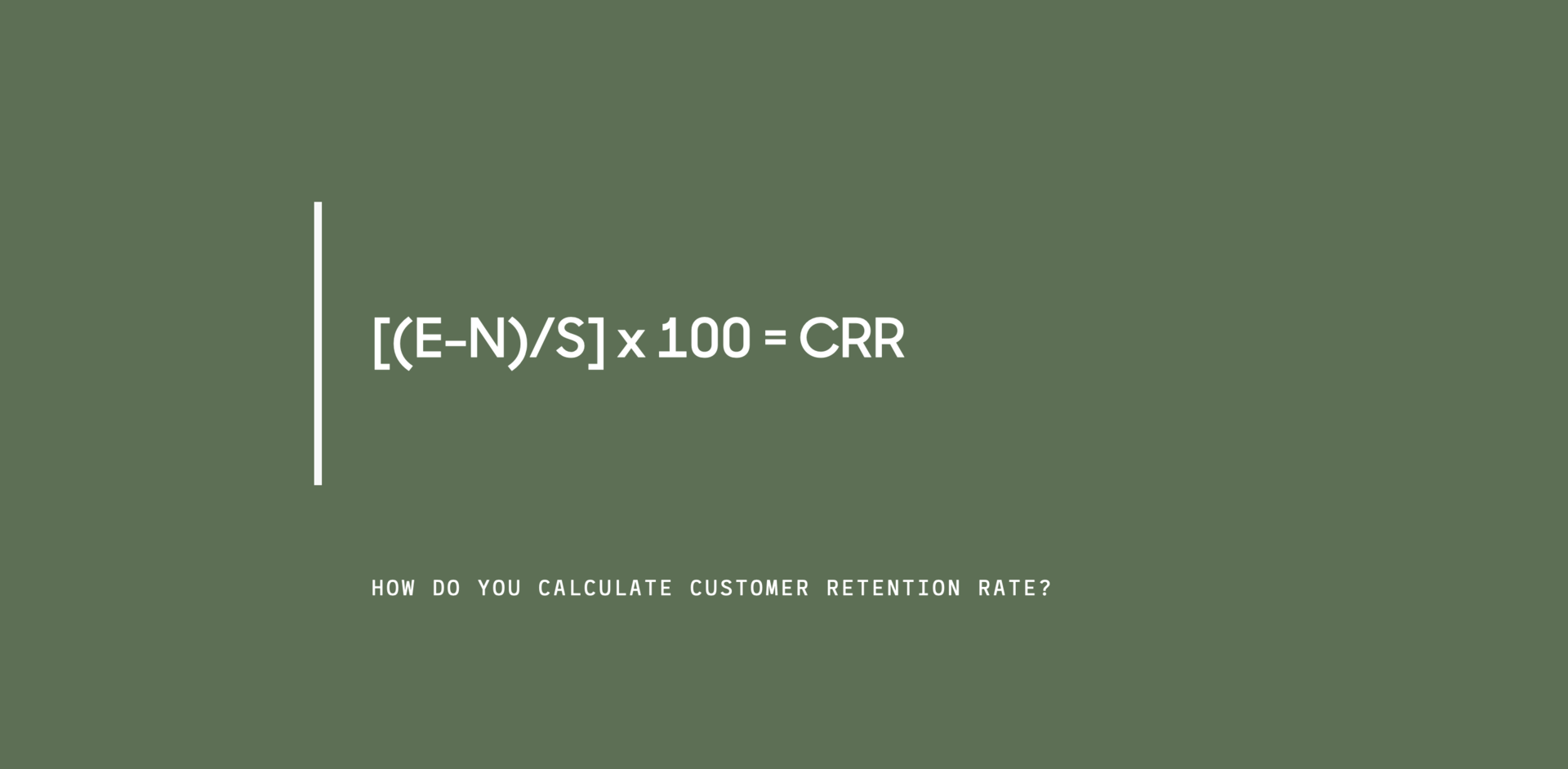 how to calculate retention rate