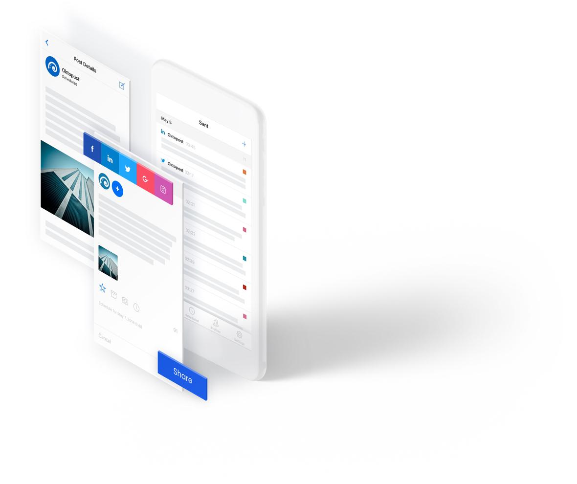 Social media management app