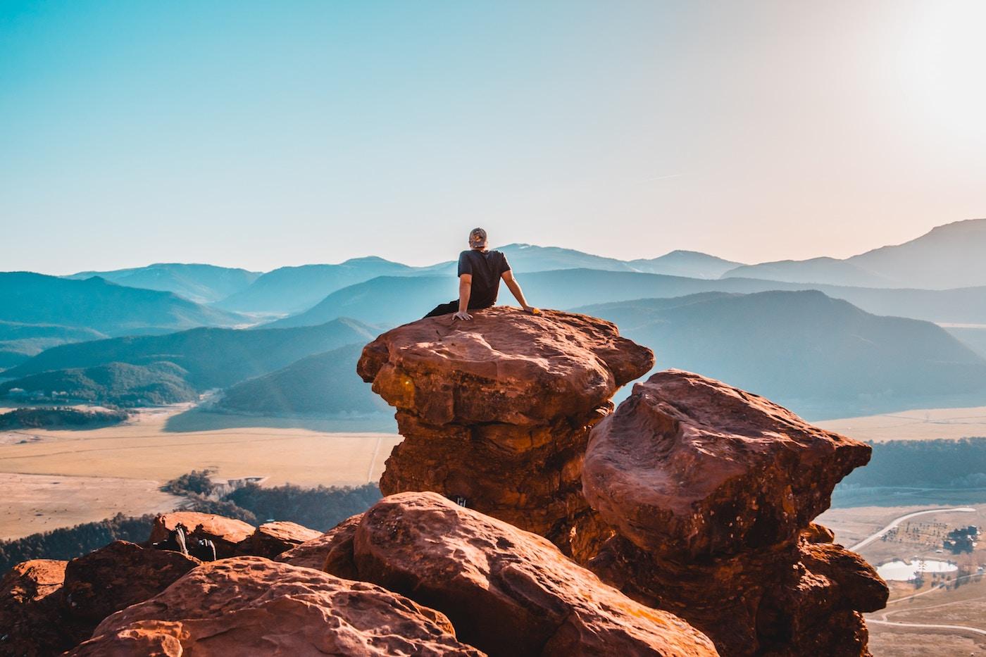free marketer enjoying the view